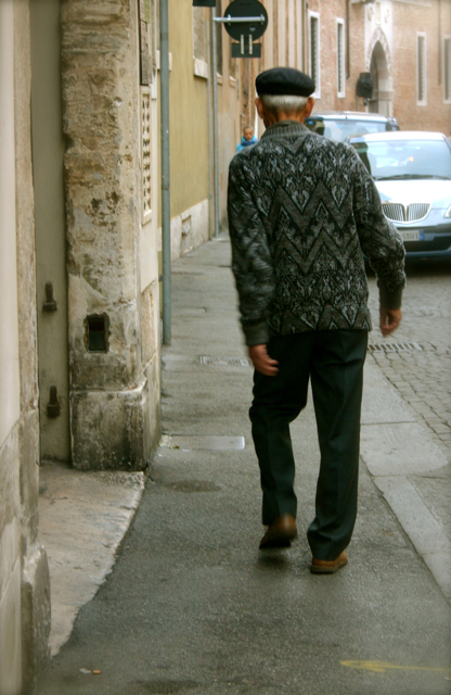 Old man on the street vicenza