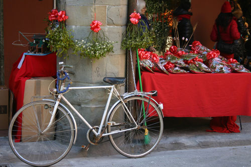 Christmas bicycle